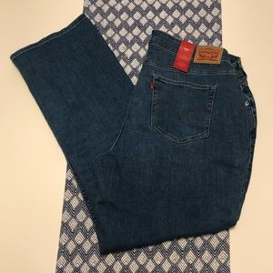 Levi's NWT 414 Classic Straight jeans 20W short